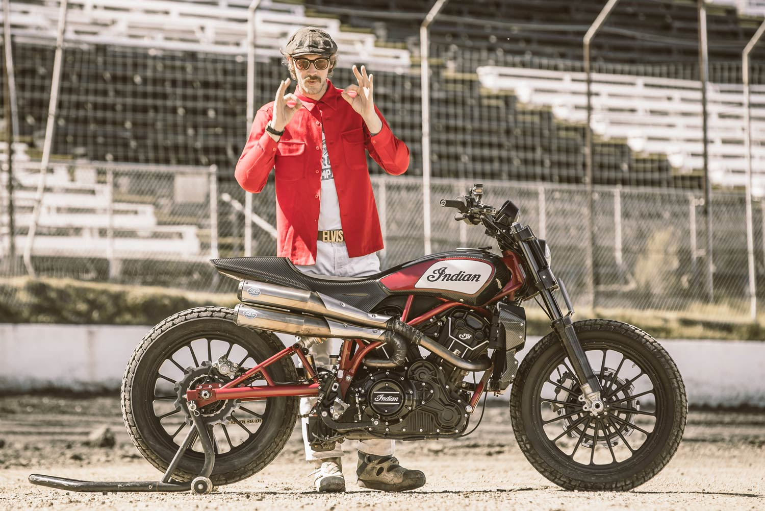 Indian Motorcycle Flat Track Race
